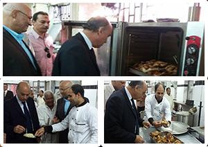 نائب رئيس جامعة بنها يتفقد مطاعم التغذية بالمدن الجامعية بكفر سعد
