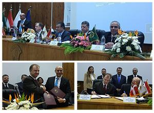 سرور وشمس الدين يشهدان توقيع إتفاقية تعاون إنشاء وحدة تطوير أعمال المشروعات الزراعية بمشتهر