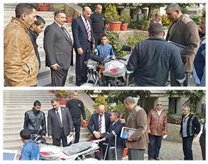 نائب رئيس جامعة بنها: توزيع دراجات بخارية للطلاب ذوى القدرات الخاصة وإعفائهم من المصروفات الدراسية