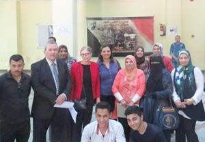 كلية التمريض تستقبل د/ سوزان سيلفر المسئوله عن تطوير التعليم والتدريب لدول الشرق الأوسط وشمال إفريقيا