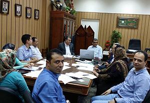 رئيس جامعة بنها يتابع فريق عمل تصنيف QS Star