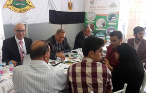 إقبال كبير على جناح جامعة بنها في معرض التعليم العالي بالأردن