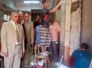 الأستاذ الدكتور جمال إسماعيل يتفقد أعمال الصيانة بالمدن الجامعية