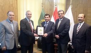 رئيس جامعة بنها يستقبل المستشار الثقافي لسفارة الكويتى بالقاهرة