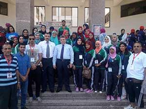 رئيس جامعة بنها يلتقى بالوفد المشارك فى أسبوع شباب الفتيات بالمنيا