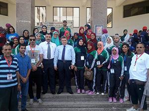 جامعة بنها تحصد 4 ميداليات فى أسبوع شباب الفتيات بالمنيا