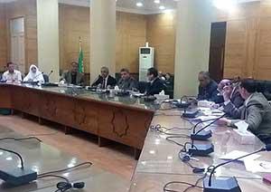 رئيس جامعة بنها يترأس إجتماع مجلس إدارة التعليم المفتوح