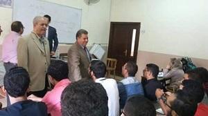 رئيس جامعة بنها يتفقد الدراسة بهندسة شبرا ويستقبل الطلاب الجدد