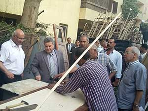 Prof. Dr. Sayed El Kady follow up Maintenance works at the University Hostel at Tukh