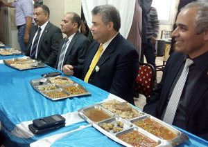 The University President has Launch with the Students of the University Hostel in Moshtohor