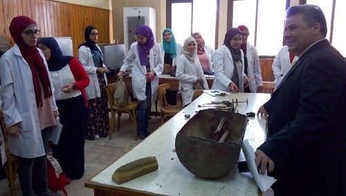 The university president pays a sudden tour to the faculty of engineering in Benha
