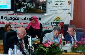 فى كلية طب بنها حوار عن: دور القوات المسلحة في تنمية مصر