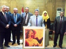 A meeting about the Artistic Production of the Students of the Faculty of specific Education in Benha