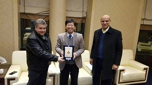 The University President discusses the Cooperation with the Chinese Forest University
