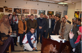 The University President inaugurates the Exhibition of the Stduents of the Faculty of Specific Education