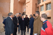 The University President inspects the Exams in the Faculty of Commerce