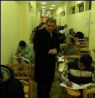 The Vice President of Post-Graduate Studies and Researches inspects the Exams