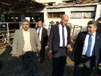The University president inspects the Farm of animal production at the Faculty of Agriculture in Moshtohor
