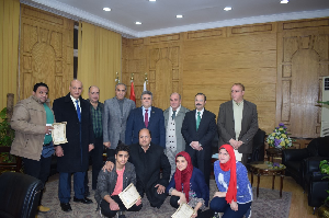 Benha University honors the Republic Champion of Bodybuilding and the Chess Team in the Employees' Club in the University