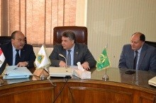 EL-Kady meets with the president of EL-Sadat University