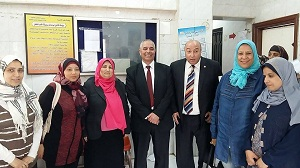 إقبال كبير من أهالى القليوبية على قوافل جامعة بنها بقرية القشيش بشبين القناطر