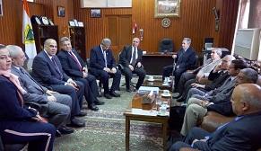رئيس جامعة بنها يلتقي بفريق ضمان الجودة تمهيداً لإعتماد هندسة بنها