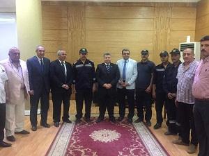 مجلس القيادات يكرم فريق من الحماية المدنية لمشاركته في إخماد حريق محدود بحاسبات بنها