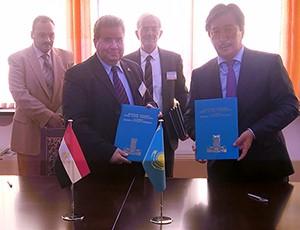Signing an international relationship memorandum of understanding between the EL-Faraby University and Benha University
