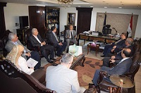 رئيس جامعة بنها ونائبيه و6 عمداء في مكتب مدير الأمن ... للتهنئة
