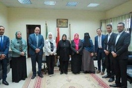 A delegation from the Saudi-German hospital visits the faculty of Nursing in Benha University