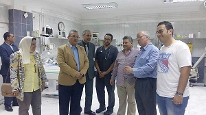 A tour of university president in the university hospitals