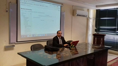 E-Learning center carry out a workshop in the faculty of applied arts and the faculty of computer and informatics about the cloud model system