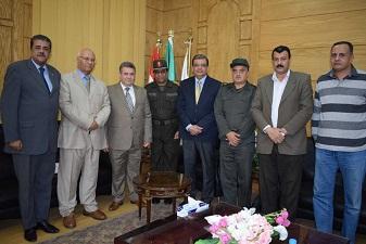 القاضي يطالب جهاز مشروعات الخدمة الوطنية بتعاون أكبر مع جامعة بنها