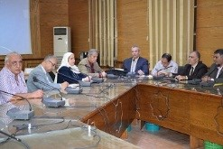 Finishing the pillars of population committee in Benha University