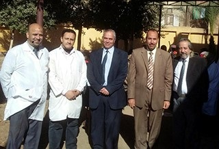 Benha University's veterinary convoy in the village of koom El- Atron