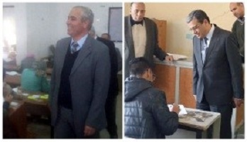 The vice presidents inspect the exams in five faculties