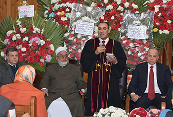 """We heartily value the church's support to the Egyptian state"" says EL-Kady during his visit to the evangelical church"