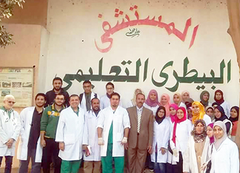 The faculty of veterinary medicine organizes a training day for the students in the educational hospital