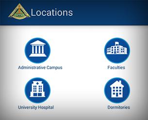 خرائط الوصول لجامعة بنها وكلياتها على تطبيقها الرسمي للهواتف الذكية