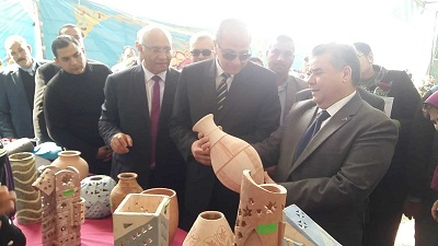 EL-Kady and Ashmawy inaugurate Benha university products exhibition