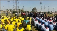 """""""EL-kady asserts that the youth is very serious in making his future"""" says the university president in the prototype of extinguishing the fire in Benha University"""