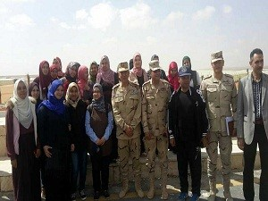 The students of the faculty of agriculture visit the project of 1000 agricultural stoves in order to activate the initiative of students and the Egyptian state accomplishments