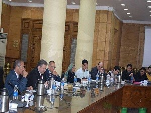 """We seek to improve the quality of the administrative process and achieving the best for those who deal with us"""" says EL-Kady in its meeting with the department 's heads in Benha University"""
