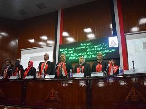 رئيس جامعة بنها يشهد حفل الخرجين الخامس لكلية التمريض
