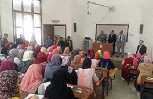 EL-kady heaps praise on the students' and employees patriotism in his tours in some university's faculties