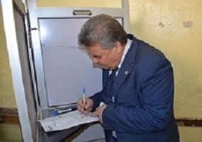 "The Egyptian people aligns to the favor of the homeland"" says EL-Kady after voting in the presidential elections"