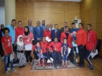 Honoring Benha university's students who win in the Egyptian University contests