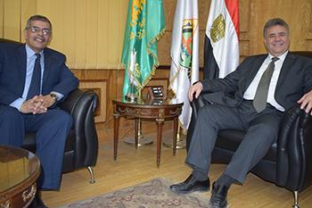 القاضي يكلف المغربي بالاهتمام بجودة العمليه التعليميه وتنمية مهارات الطلاب والخريجين