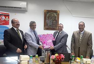 مجلس طب بيطري بنها يكرم نائب رئيس الجامعه للتعليم والطلاب