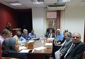 إجتماع لتحسين الخدمات الإلكترونية بكلية الهندسة بشبرا